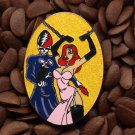 Jessica Rabbit Pins Grateful Dead Fantasy Skeleton Chain Pin