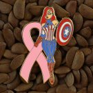 Pink Ribbon Pins Jessica Rabbit Captain America Super Hero Pin