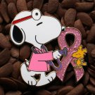 Pink Ribbon Pins Peanuts Doctor Pin Snoopy & Woodstock