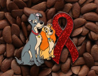 Red Ribbon Pin Lady The Tramp Pins