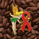 Red Ribbon Pins Angel Tinkerbell Tinker Bell Pin