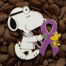 Purple Ribbon Pins Peanuts Doctor Pin Snoopy & Woodstock