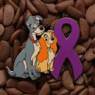 Purple Ribbon Pin Lady The Tramp Pins
