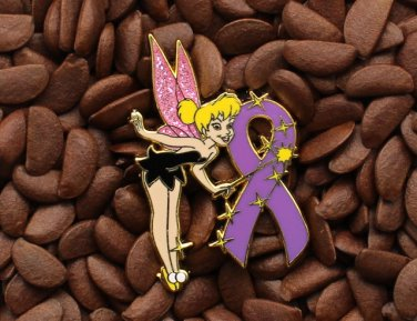 Purple Ribbon Pins Angel Tinkerbell Tinker Bell Pin
