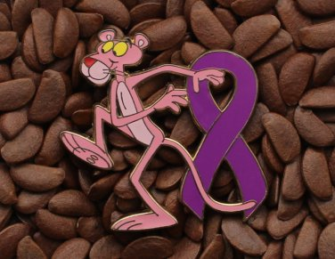 Purple Ribbon Pin Pink Panther Pins