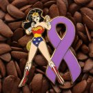 Pink Ribbon Pins Patriots Wonder Woman Pin