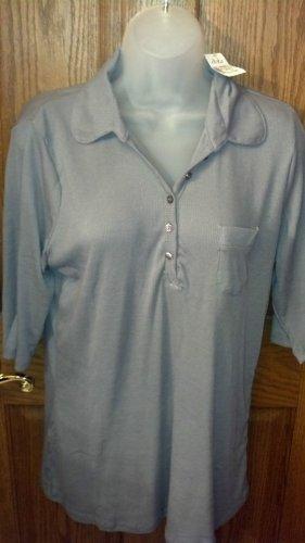 Ladies Casual Shirt, Size 2X, Dark grey, half sleeves