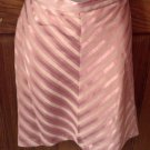 Ladies Skirt, LaBelle Fashions, Mauve stripes, Size 7/8