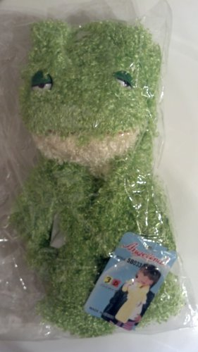 Plush 3-D Character Scarf by Angelina , Green Frog, Childrens, girls