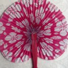 Paper Fans, Decorative, Hand Held, Rose Hibiscus