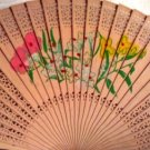 "Fans, Wooden, Floral, Hand Held, lace-like carving by ""Oriental Breeze"""