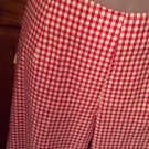Ladies Red White checked pants by Pink Ribbon, Size 8
