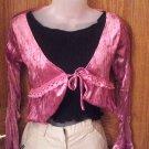 Ladies Decorative Jacket , Mauve, Long Sleeves, Medium