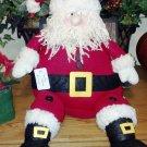 "Vintage look stuffed Santa Claus, 18""x8-1/2"""