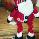 Home Spun look stuffed Santa Claus, Christmas home decor
