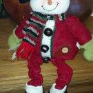 Home Spun look stuffed Snow Lady, Christmas home decor