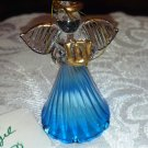 10% off CHRISTMAS ---Christmas ornament, blue angel, glass
