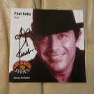 "ORIGINAL  PAUL ANKA  Autographed SiP CD ""PAUL ANKA Live"" + PHOTO"