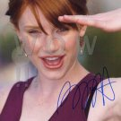 Gorgeous BRYCE DALLAS Signed Autograph 8x10 inch. Picture Photo REPRINT