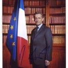 NIKOLAS SARKOZY  Signed Autograph 8x10 inch. Picture Photo REPRINT