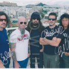 Original ANTHRAX  8x10 Signed in Person by ALL 4 Autograph Photo 3