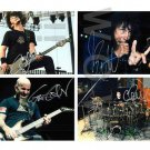ORIGINAL Autographed SiPerson ANTHRAX  by ALL 4  13x19 Poster Picture