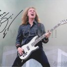 Original DAVID ELLEFSON of MEGADETH 8x10 Signed in Person  Autograph Photo Pic