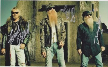 ZZ TOP Signed Autograph 8x10  Picture Photo REPRINT