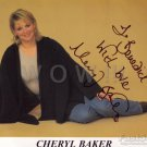 Gorgeous CHERYL BAKER Signed Autograph 8x10 inch. Picture Photo REPRINT