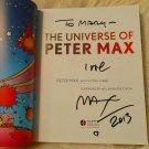 "Genius Artist PETER MAX ""The Universe of.."" Signed Autographed Book + FREE Bonus"
