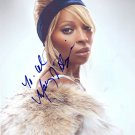 Gorgeous MARY J  BLIGE Signed Autograph 8x10 Picture Photo REPRINT