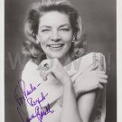 Original LAUREN BACALL 8x10 Signed  Autographed  Photo Picture