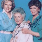 Gorgeous GOLDEN GIRLS Signed Autograph 8x10 inch. Picture Photo REPRINT