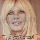 Gorgeous BRIGITTE BARDOT Signed Autograph 8x10 inch. Picture Photo REPRINT