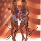 Gorgeous BARBI TWINS Signed Autograph 8x10 inch. Picture Photo REPRINT