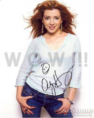 Gorgeous ALYSON HANNIGAN Signed Autograph 8x10 inch. Photo Picture REPRINT