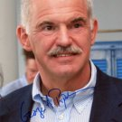 GEORGE PAPANDREOU  Signed Autograph 8x10 inch. Picture Photo REPRINT