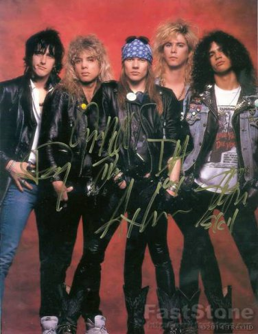GUNS'N'ROSES Autographed signed 8x10 Photo Picture REPRINT