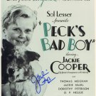 JACKIE COOPER Autographed Signed 8x10 Photo Picture REPRINT