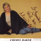 CHERYL BAKER Autographed Signed 8x10 Photo Picture REPRINT