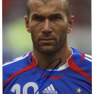 ZINEDINE ZIDANE Autographed signed 8x10 Photo Picture REPRINT