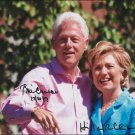 BILL and HILLARY CLINTON Autographed signed 8x10 Photo Picture REPRINT