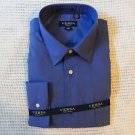 New VERSA COLLEZIONI Men's Blue Long Sleeve Button Down Dress Shirt Sz.L