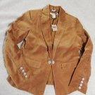 Original NEW Gorgeous LEVI STRAUSS Velvet Women Misses 100% Cotton Jacket Size M