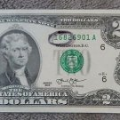 "2013 ""168"" Fancy ""LUCKY"" UNCIRCULATED SEQUENTIAL Order $2 TWO Dollars Note Bill"