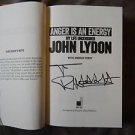 "JOHN LYDON SEX PISTOLS Autographed Signed Book ""Anger Is An..."" w/COA+FREE Bonus"