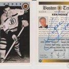 Original KEN HODGE Autographed NHL Ultimate 2.5x3.5 Card w/COA