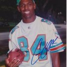 Original GARY CLARK DOLPHINS REDSKIN Signed Autographed 8X10 Photo Picture w/COA