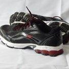 New AVIA Mens Pulse Trail Running Shoe Black/Steel Grey/F1 Red 7.5 W US/41.5 EU
