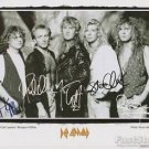 Official DEF LEPPARD  8x10 Lithograph Photo Picture REPRINT w/Signatures  ALL 5